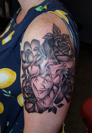 roses with heart